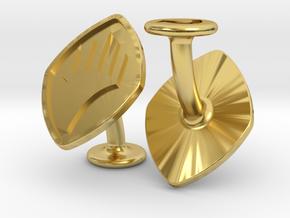 Cufflinks MTG Planeswalker Symbol in Polished Brass