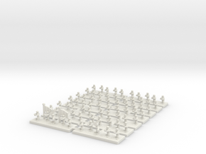 6mm Regimental Headquarters Company in White Natural Versatile Plastic