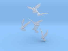 1/12 Doves for Diorama in Smooth Fine Detail Plastic