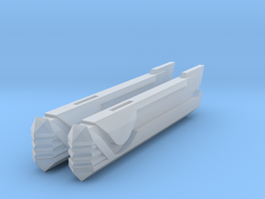 2500 Turtleshell Antagonist Nacelles 3 in Smooth Fine Detail Plastic