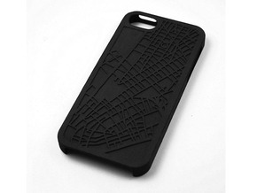 Financial District/ Tribeca NYC Map iPhone 5/5s Ca in Black Strong & Flexible