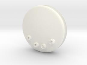 7mm TTA Molasses tank ends pair in White Processed Versatile Plastic