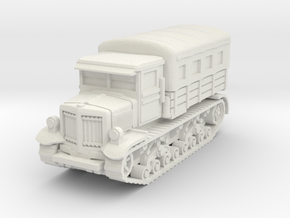 Voroshilovets tractor (covered) scale 1/100 in White Natural Versatile Plastic