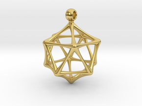 ICOSAHEDRON in Polished Brass