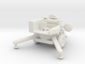 1/100 Scale M167 Vulan Air Defense System in White Natural Versatile Plastic