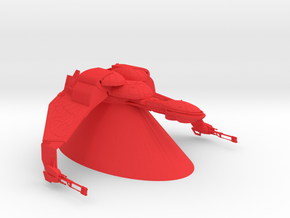 Klingon Empire - Bird of Prey in Red Processed Versatile Plastic