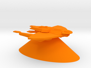 Cardassian Union - Cruiser in Orange Processed Versatile Plastic