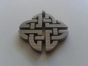 Celtic Shield Pendant 2 in Stainless Steel