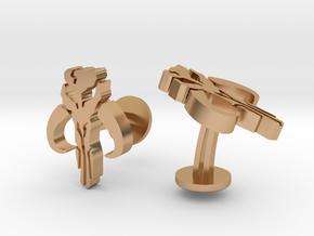 SW Mandalorian Cufflinks in Polished Bronze