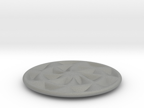 coaster fat pinwheel patterned bottom in Gray Professional Plastic