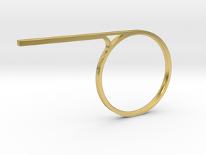 Diving Bar Ring_Size 7 in Polished Brass: 7 / 54