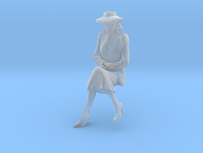 1-24 Girl Friday sitting on bench in Smoothest Fine Detail Plastic