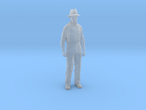 1-24 Fred Standing with hat hollow in Smoothest Fine Detail Plastic
