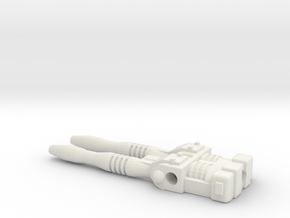 TF CW First Aid Slim Car Cannon in White Natural Versatile Plastic