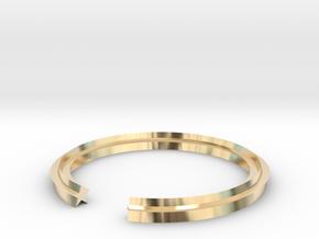 Star 14.05mm in 14k Gold Plated Brass