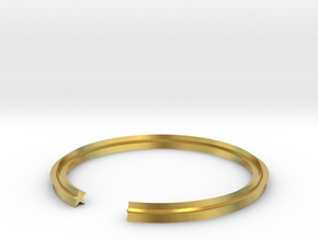 Star 17.75mm in Polished Brass