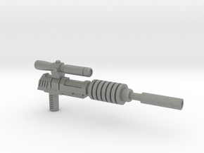 Megatron Pistol, Silenced (3mm & 5mm grips) in Gray Professional Plastic: Small