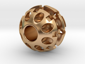 20mm Sphere Bead in Polished Bronze