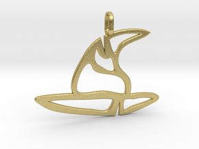 witch hat pendant in Natural Brass