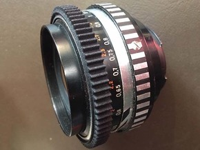Zeiss Jena Zebra Pancolar 2-50 Focus Gear (v3) in Black Natural Versatile Plastic