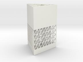 Sierpinski Penholder in White Natural Versatile Plastic