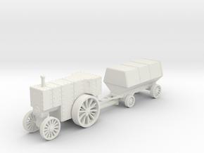 Flowrer B5 loco and car 1:144 in White Natural Versatile Plastic