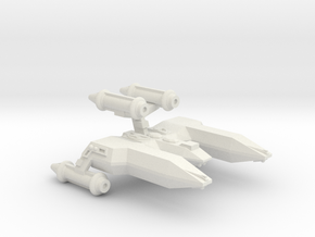 3788 Scale Lyran Top-Alleycat Heavy War Destroyer in White Natural Versatile Plastic