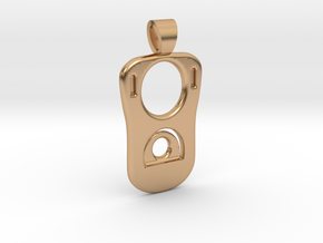 Can tab [pendant] in Polished Bronze