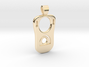 Can tab [pendant] in 14k Gold Plated Brass