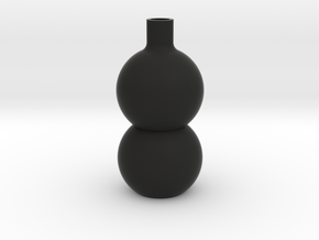 Stacked Sphere Vase in Black Natural Versatile Plastic