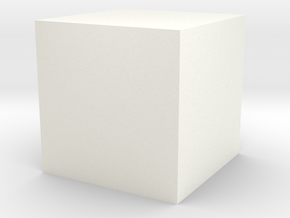 Simple Cube Planter in White Processed Versatile Plastic