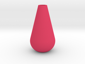 Tall Teardrop Vase in Pink Processed Versatile Plastic