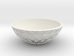 Root Bowl in White Natural Versatile Plastic