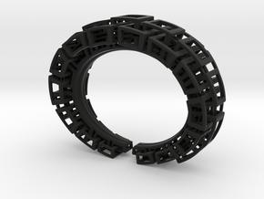Kubusarmband-taps-2 lagen in Black Natural Versatile Plastic: Medium