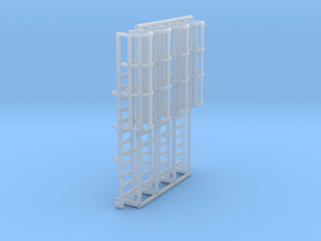 1:100 Cage Ladder 38mm Top in Smooth Fine Detail Plastic