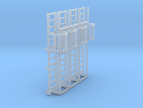 1:100 Cage Ladder 42mm Platform in Smooth Fine Detail Plastic