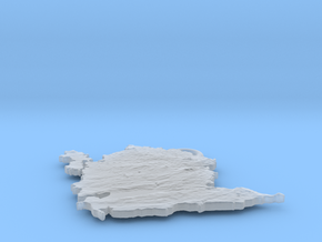 Ynys Môn - Anglesey in Smooth Fine Detail Plastic