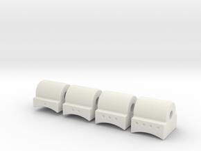 Concave Hopup Nubs in White Natural Versatile Plastic