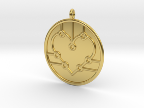 Biology Symbol in Polished Brass