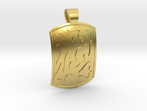 Ethnic comma-style [pendant] in Polished Brass