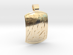 Ethnic comma-style [pendant] in 14k Gold Plated Brass