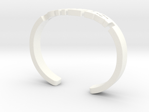 Feminist Cuff Bracelet in White Processed Versatile Plastic: Medium