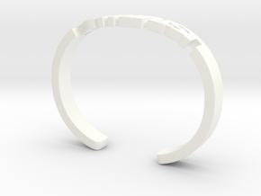 Feminist Cuff Bracelet in White Processed Versatile Plastic: Medium