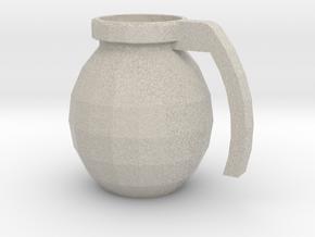 Mug of respect (Grenade F1) in Natural Sandstone