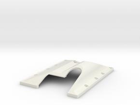 RIGHT SIDE TF2 GCM LRT2 Trans/T-case Skid Plate in White Natural Versatile Plastic