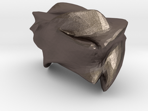 Blob 12 in Polished Bronzed-Silver Steel: 6mm