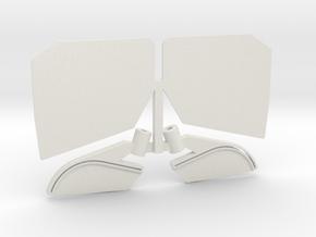 Verbund Heckflügel  in White Natural Versatile Plastic