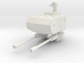 Marksman AA turret  1:72 in White Natural Versatile Plastic
