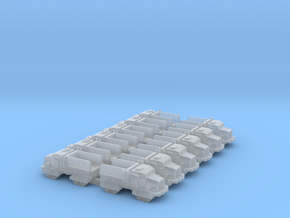 6mm Quad-Tracked Cargo Truck (12pcs) in Smooth Fine Detail Plastic