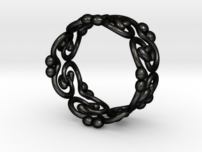 filigree ring in Matte Black Steel: 9 / 59